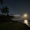 Setting Moon over Kealakekua Bay