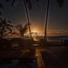 The full moon setting over Kealakekua Bay