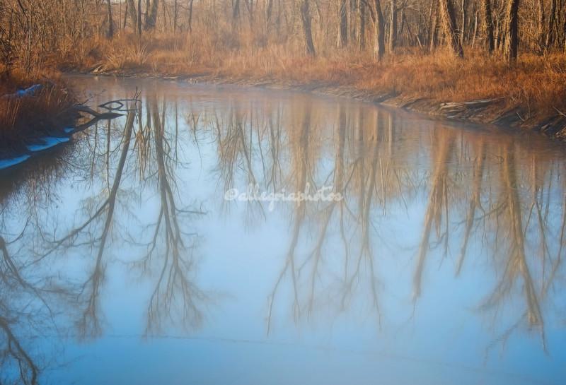 Misty morning on Gilbert Lake, Grafton