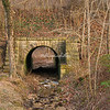 Old Bridge over a stream, Elsah, Illinois