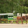 Indiana Amish corn wagon