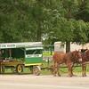 Indiana Amish corn wagon