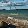 Mackinaw Bridge, Lake Huron