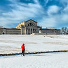 A winter walk in Forest Park by the St Louis Art Museum