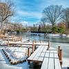 The Boardwalk and lake, Missouri Botanical Garden, St Louis, Missouri, USA