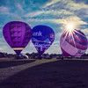 Hot air balloon rise from Forest Park, St Louis