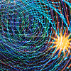 Sun and spiraling light, Wild Lights, St Louis Zoo