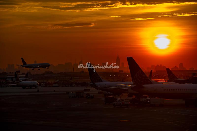 Sunrise, Newark Liberty Airport, New Jersey