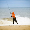 Surf fishing, Cape May, New Jersey