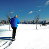Snowshoeing, Liberty State Park, New Jersey