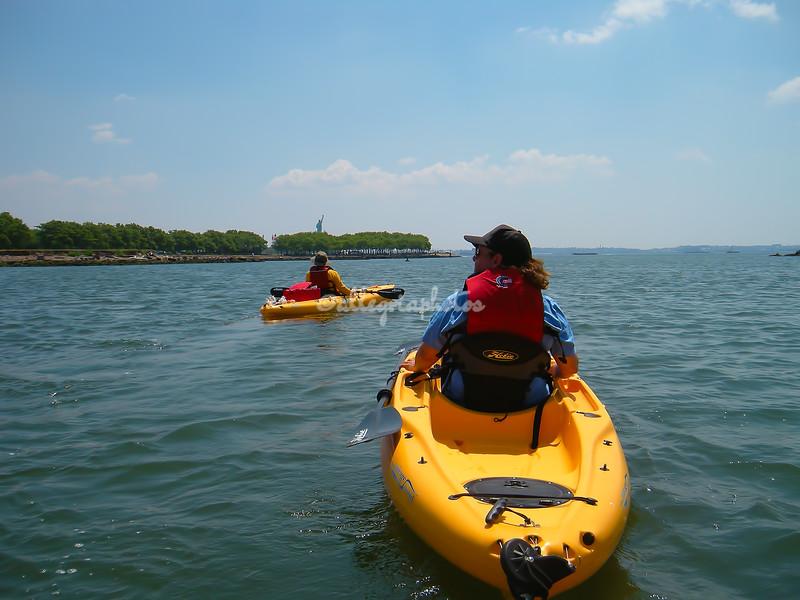 Kayaking off Liberty State Park