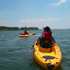 Kayaking off Liberty State Park