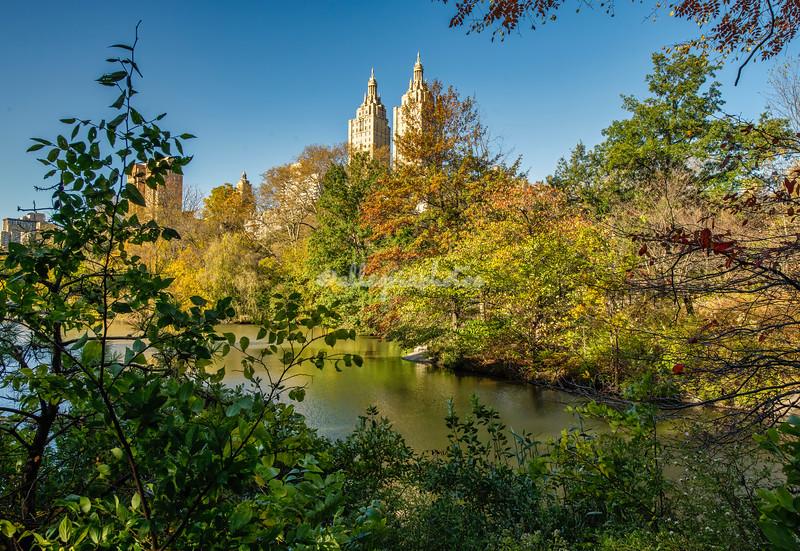 Across the lake, Central Park, New York, City