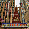 Outside of Radio City Music Hall, New York