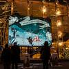 Christmas scene, Broadway, New York