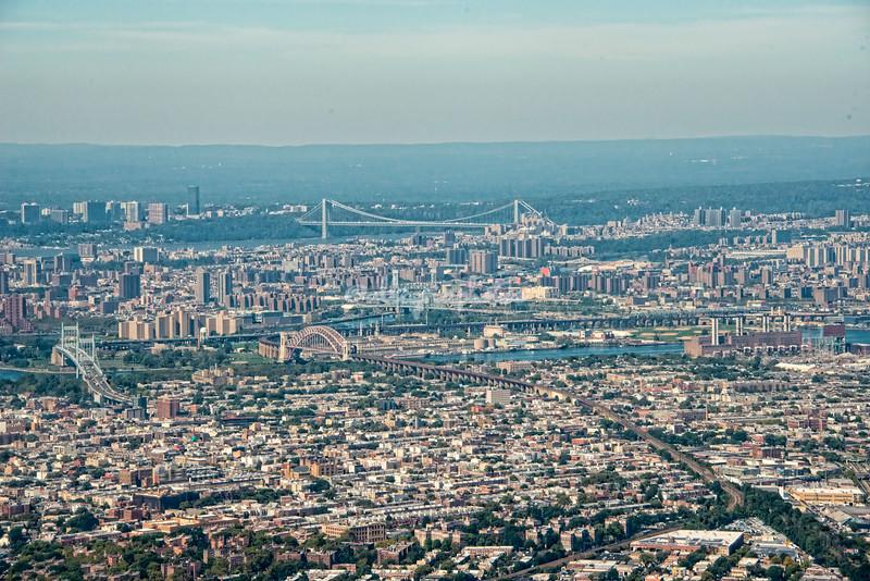 Upper Manhattan and the George Washington Bridge, New York City