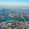 Lower Manhattan and Williamsburg Bridge, New York city