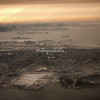 """Wintry Morning"" ,  with Statue of Liberty from the Air after take-off from Newark"