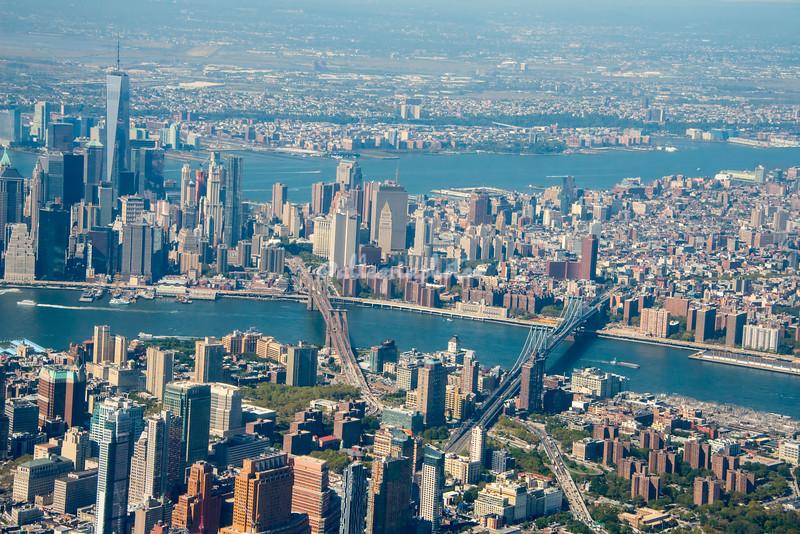 Lower Manhattan and Bridges, New York City