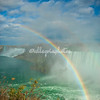 Niagara Falls. A rainbow over the gorge.