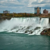 Niagara Falls. American Falls with Cave of the Winds visible at the bottom right.