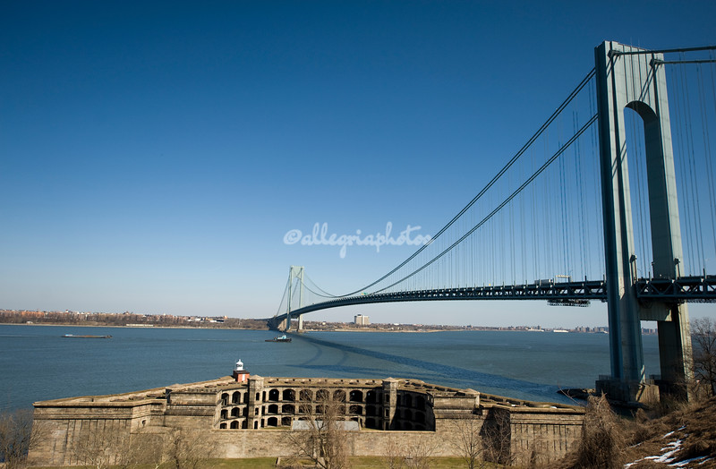 Verrazano Narrows Bridge and Fort Wadsworth