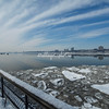 Ice floes on the Hudson River