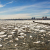 Ice blocks on the Hudson River