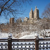 Looking towards the Dakota Building in Central Park
