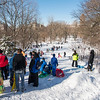 Sledding hill, Central Park, NYC