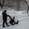 Clearing the sidewalk, NYC