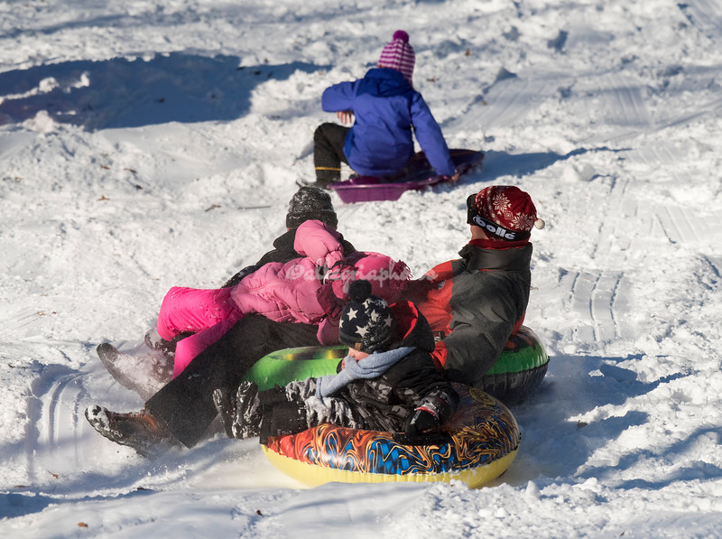 Tubing in Central Park, NYC