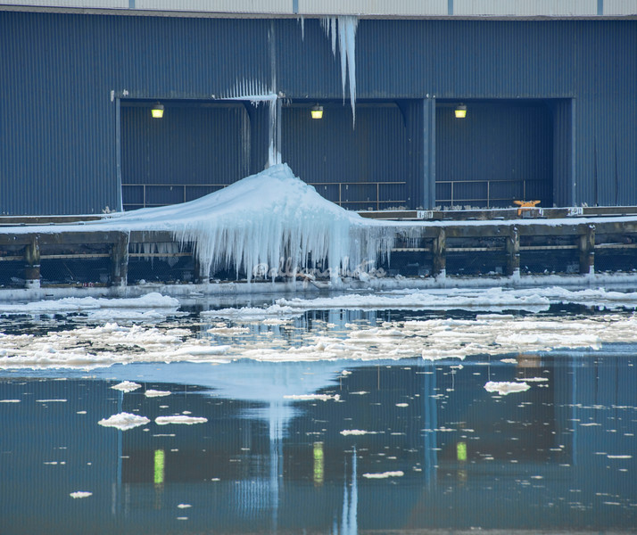 Icicles on Pier 59, Hudson River, New York City