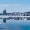 An Icy Hudson River panorama - looking across to New Jersey