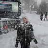 Enjoying the snow, NYC