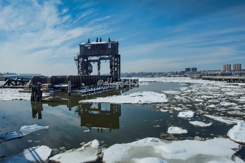 New York Central Railroad Transfer Bridge on the Hudson River