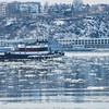 Breaking through the ice on the Hudson River