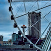 Seattle Waterfront, Ferris Wheel and Space Needle,