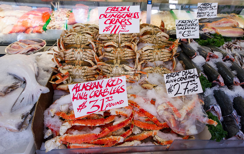 Crabs, Seattle Fish Market