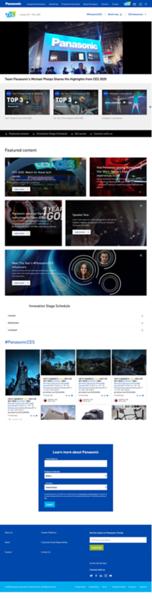 Panasonic CES 2020 Microsite