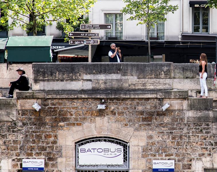 Bord de la Seine, Paris, 2016.