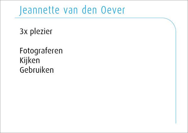 Jeannette van den Oever 2016