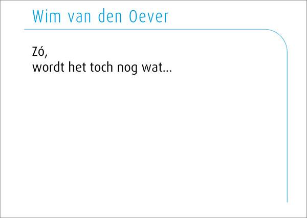 Wim van den Oever 2016
