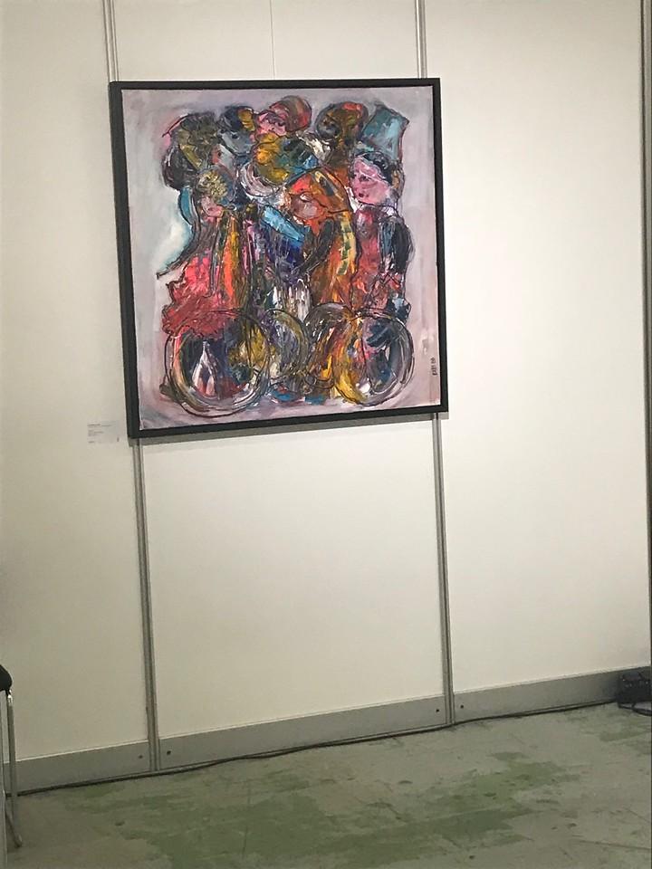 Wiinend schilderij van EllesBB in de All about Art Award - Wheels -