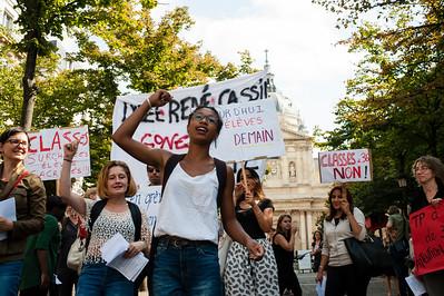 Manifestation des enseignants, 8 septembre 2016.
