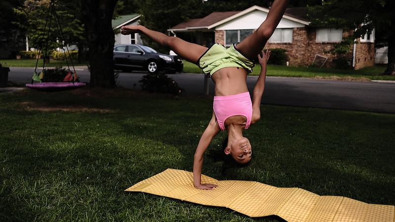 gymnastics in the yard