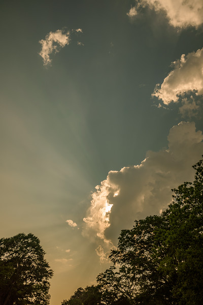 the sky of clouds and sun