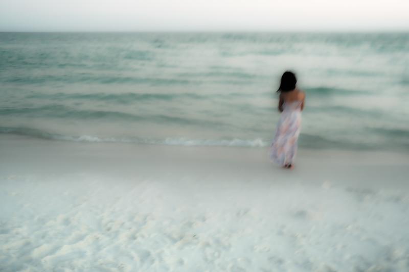 lyla gazes into the gulf