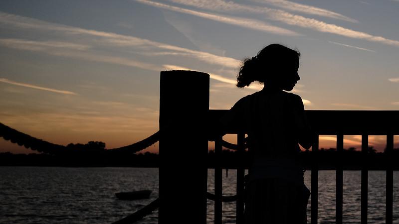 sunset at lake sumter