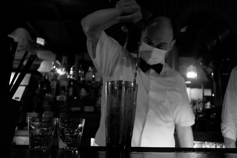 the bartender makes me another sazerac